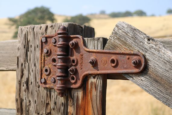 Old Hinge on Cattle Corral Gate