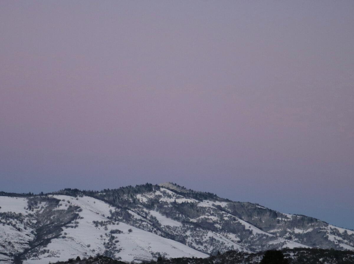Winter Sunset on Tom Spring Mountain