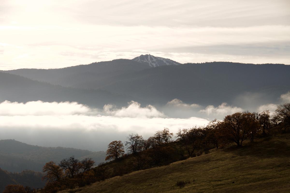 View of Mt. Ashland in winter from Samspon Creek Preserve