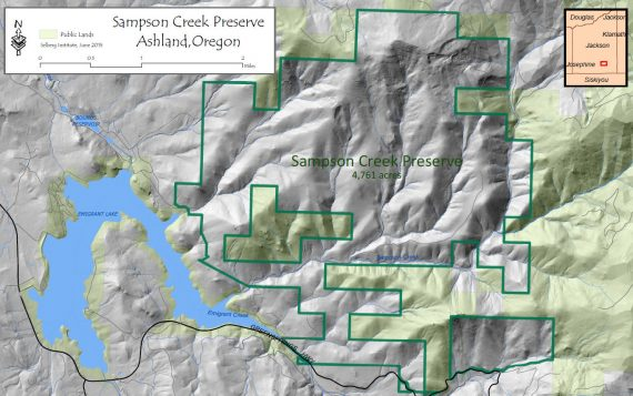 Map of Sampson Creek Preserve