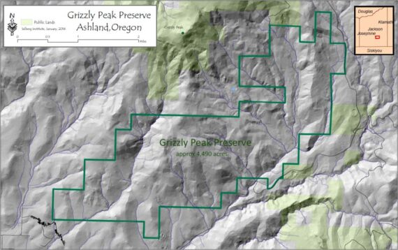 Map of Grizzly Peak Preserve Boundary